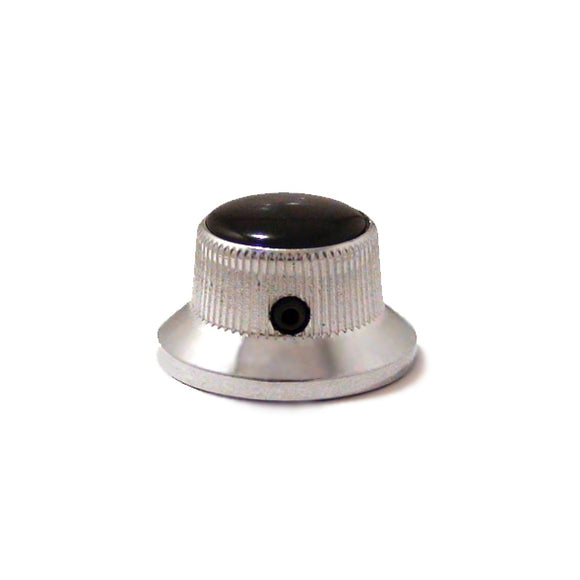 Ant Hill Music Guitar Control Knob Bell Top Split/Solid Shafts Chrome BLK PRL - Ant Hill Music