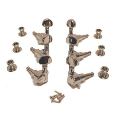 Grover Mini Rotomatics Electric Guitar Tuning Machines 3x3 14:1 Ratio in Chrome