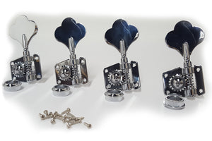 Ant Hill Music Bass Guitar Tuning Machines 4-inline Left-Handed Chrome - Ant Hill Music