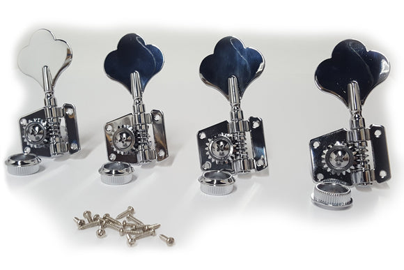 Ant Hill Music Bass Guitar Tuning Machines 4-inline Left-Handed Chrome