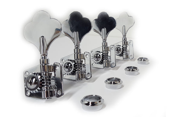 Ant Hill Music Bass Guitar Tuning Machines 4 inline Left-Handed 19:1 Gear Ratio - Ant Hill Music