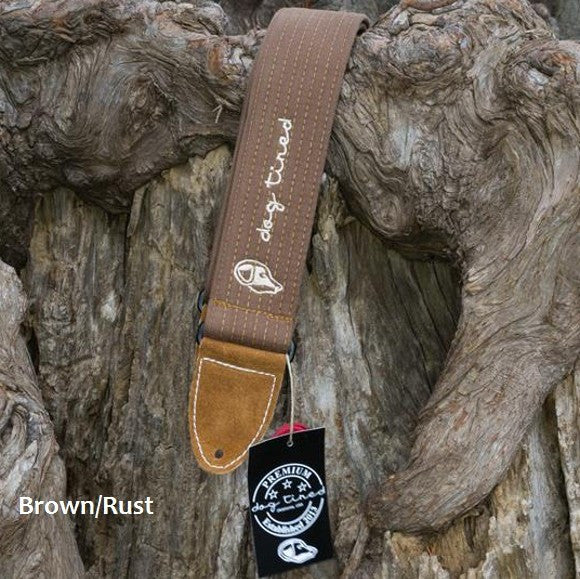 Dog Tired Premium Guitar Strap Handmade in the USA - Brown Rust - Ant Hill Music