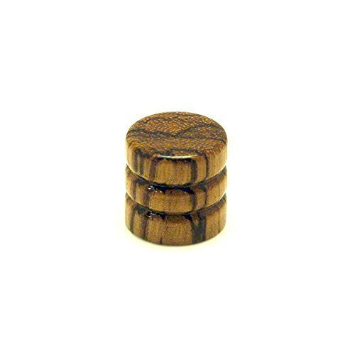 Ant Hill Music Wooden Guitar Knob Root beer Barrel Style Spalted Zebra Pattern - Ant Hill Music