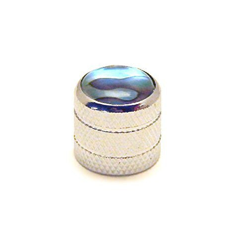 Ant Hill Music Audio Control Knob Dome Top Fit Split Shaft Pot Chrome/Abalone - Ant Hill Music