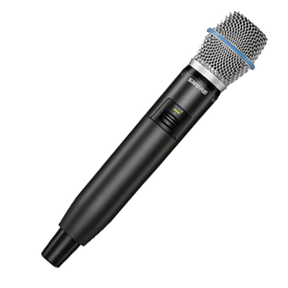 Shure GLXD2/BETA87A Handheld Microphone/Transmitter GLXD4 Reciever not included