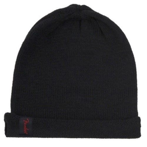 Genuine Fender Slouch Beanie Hat One Size Fits All Black with Fender Logo Tag