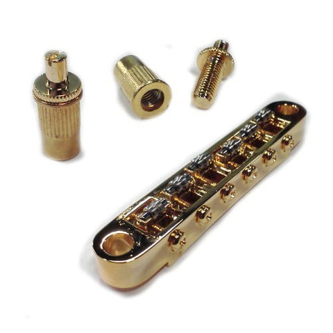 Mighty Mite Standard Style Roller Bridge Fits Les Paul - Gold