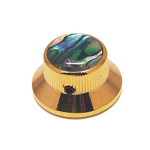 Ant Hill Music Guitar Control Knob Bell Top Fits Solid Shaft Pot Gold/Abalone