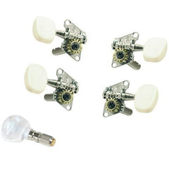 Tyler Mountain Geared Banjo Tuning Machine Set With Friction 5th Peg - Nickel