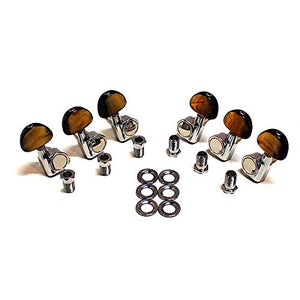 Genuine Fender Acoustic Guitar Tuning Machines fits JG-26SCE 3x3 Chrome - Ant Hill Music
