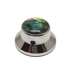 Ant Hill Music Guitar Control Knob Bell Top Fits Solid Shaft Pot Chrome/Abalone - Ant Hill Music
