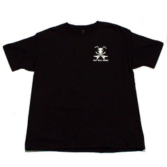 Ant Hill Music Flying V Guitar Ant Logo Men's T-Shirt in Black