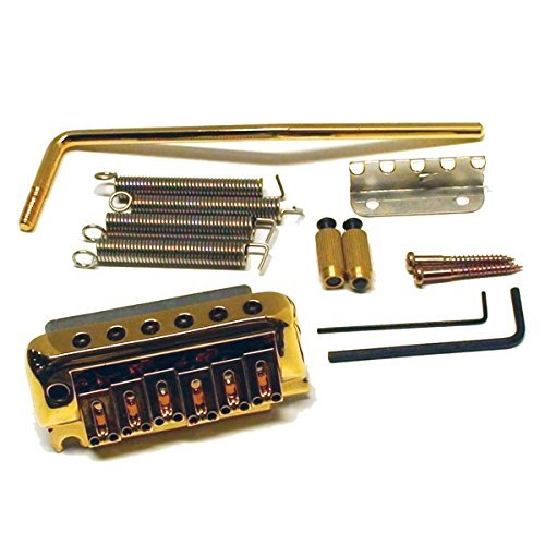 Ant Hill Music Stratocaster Style Tremolo Guitar Bridge With Hardware Gold String Spacing 2-1/16