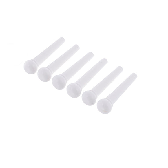 Ant Hill Music Acoustic Guitar Bridge Pins Set of 6 White - Ant Hill Music