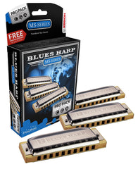 Hohner Blues Harp Harmonica Pro Pack Keys of C, G, A