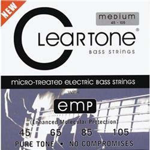 Cleartone Bass Guitar Strings - Medium - 6445 - 45-105 - 1 Pack - Ant Hill Music