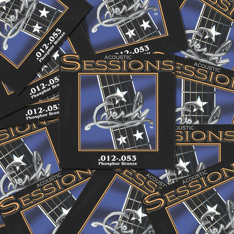 Everly Sessions Acoustic Guitar Strings - Phosphor Bronze - LT - 12-53 - 12 Pack