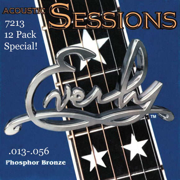 Everly Sessions Acoustic Guitar Strings - Phosphor Bronze - HVY -13-56 - 12 Pack - Ant Hill Music