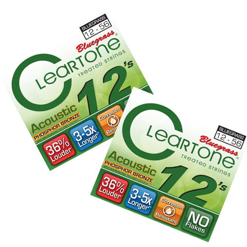 Cleartone Bluegrass Guitar Strings - LT Top Heavy Btm - 7423 - 12-56 - 2 Pack