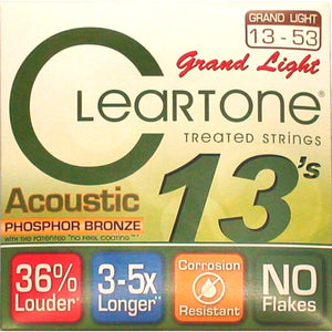 Cleartone Grand Light Acoustic Guitar Strings Phosphor Bronze 13-53 - Ant Hill Music