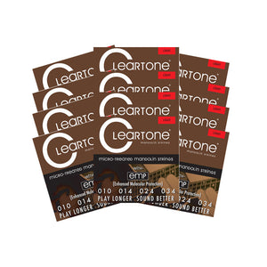 Cleartone Mandolin Strings - Light -7510 - 10-34 - 12 Packs - Ant Hill Music