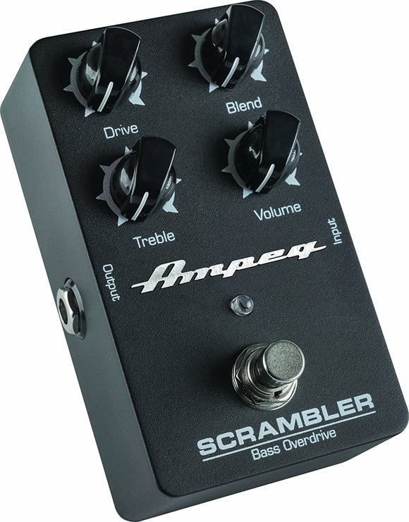 Ampeg Scrambler Bass Overdrive Pedal with Drive Blend Treble and Volume Controls - Ant Hill Music