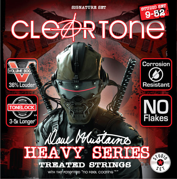 Cleartone Dave Mustaine Signature Series Guitar Strings Studio Set 9-52 Gauge DMS9520