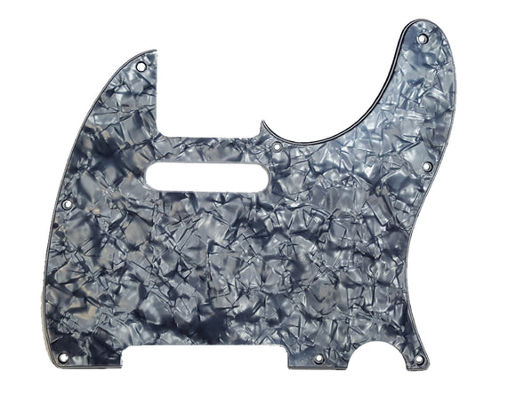Ant Hill Music Telecaster Pickguard 8 Hole Black Pearl