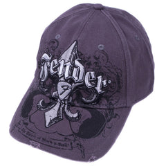 Genuine Fender Apparel Fluer De Funk Stretrch Cap Distressed Look Charcoal S/M