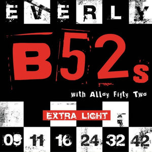 Everly B52's Electric Guitar Strings - Extra Light - 9209 - 9-42 - 1 Pack - Ant Hill Music