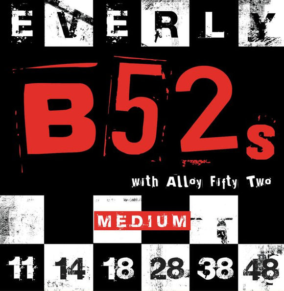 Everly B52's Electric Guitar Strings - Medium - 9211 - 11-48 - 1 Pack