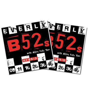 Everly B52's Electric Guitar Strings - Nickel Alloy Hybrid - 9-46 - 9219 -2Packs - Ant Hill Music
