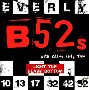 Everly B52's Electric Guitar Strings Nickel Alloy LT Top HB 10-52 - 9220 - 1Pack - Ant Hill Music