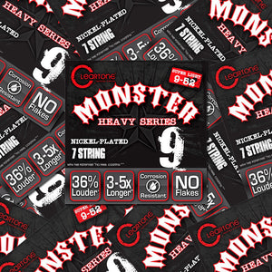 Cleartone Monster 7-String Electric Guitar Strings Nickel Super LT 09-52  12pack - Ant Hill Music