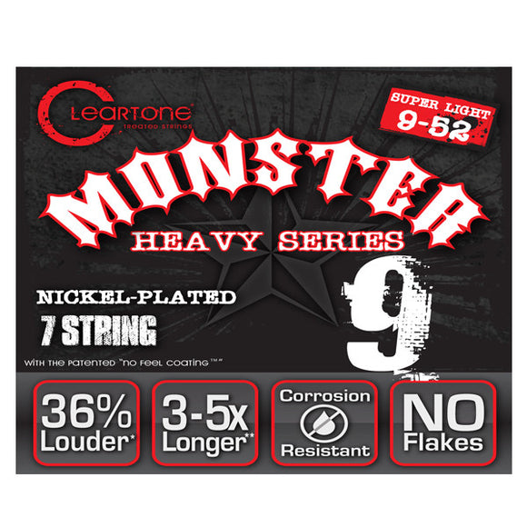 Cleartone Monster 7-String Electric Guitar Strings - Nickel - Super Light 09-52 - Ant Hill Music