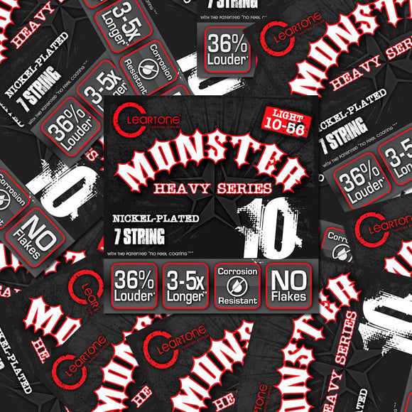 Cleartone Monster Electric Guitar Strings - Light - 7 String - 10-56 - 12 Packs - Ant Hill Music