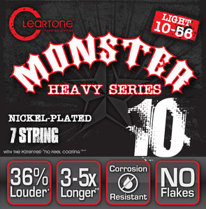 Cleartone Monster Electric Guitar Strings - Light - Seven String - 10-56