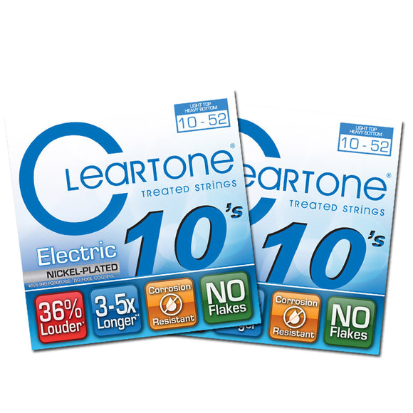 Cleartone Electric Guitar Strings Nickel - LT Top Hvy Bottom - 10-52 9420 2Packs - Ant Hill Music