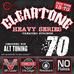 Cleartone Monster Electric Guitar Strings - Drop C - 9470 - 13-70 - 1 Pack - Ant Hill Music
