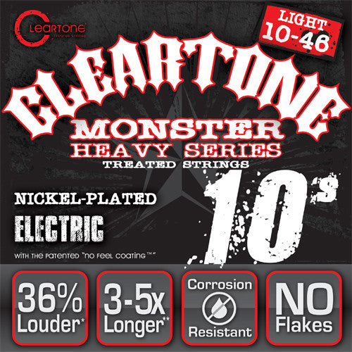 Cleartone Monster Electric Guitar Strings - Light - 9510 - 10-46 - 1 Pack