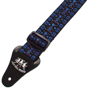Ant Hill Music Guitar Strap Adjustable Hootenanny Style Blue Brown Made in USA - Ant Hill Music