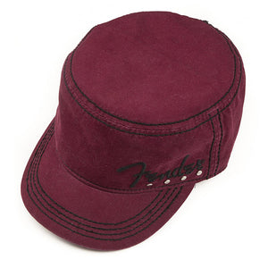 Genuine Fender Legion Military Style Studded Hat Red Wine S/M - Ant Hill Music