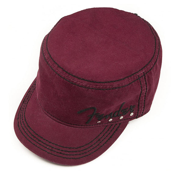 Genuine Fender Legion Military Style Studded Hat Red Wine S/M