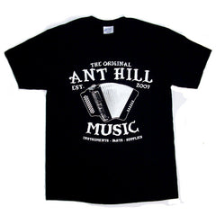 Ant Hill Music Accordion Logo T-Shirt - Black