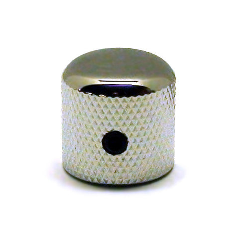 Ant Hill Music Guitar Control Knob Dome Top W/Screw Fit Solid Shaft Pot Chrome