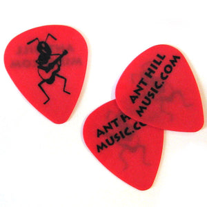 Ant Hill Music Delrin Guitar Picks .50mm - One Dozen Red - Ant Hill Music