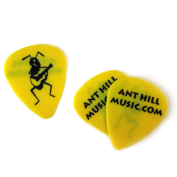 Ant Hill Music Delrin Guitar Picks .73mm - One Dozen Yellow - Ant Hill Music