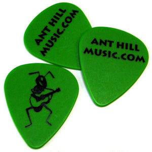 Ant Hill Music Delrin Guitar Picks .89mm - One Dozen Green