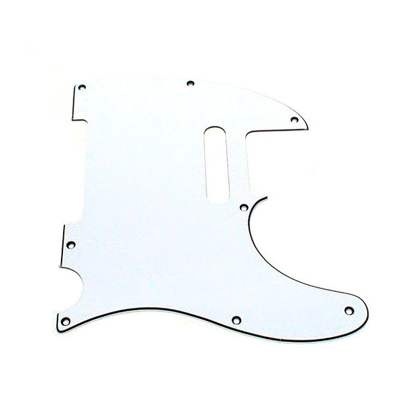 Ant Hill Music Telecaster Pickguard 8 Hole 3 Ply WBW Fits Import Telecaster - Ant Hill Music