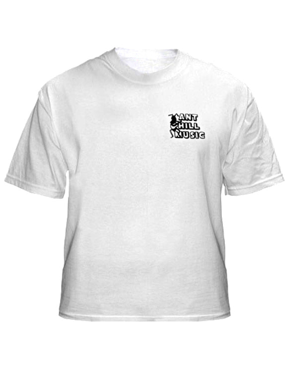 Ant Hill Music Original Ant Logo Tee Shirt White 100% Preshrunk Cotton - Ant Hill Music
